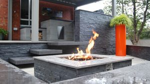 Outdoor Firepit Slider