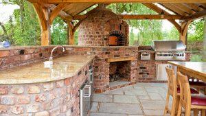 outdoor kitchen lymm garden slider