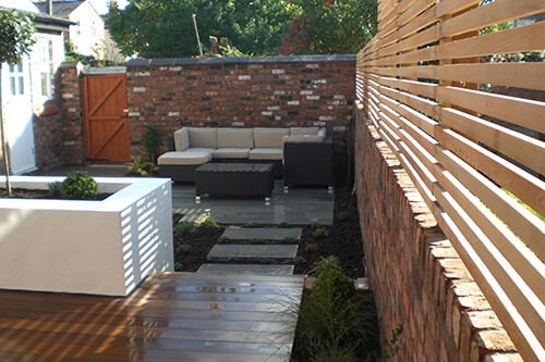Contemporary Courtyard Chester - Reclaimed Brick Walls