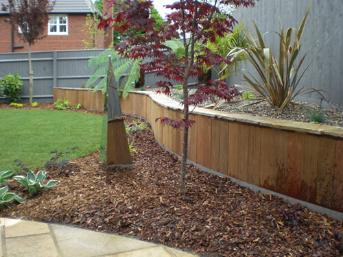 Contemporary Garden Chester - Ipe Cladded Wall