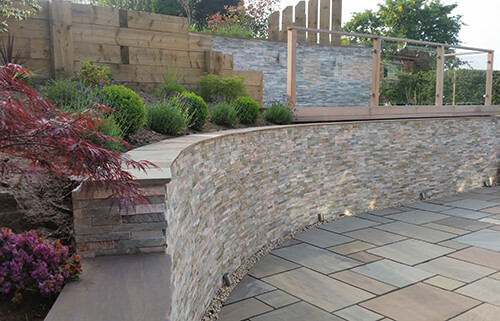 Family Garden Cheshire - Raised Beds Using Timber Sleepers