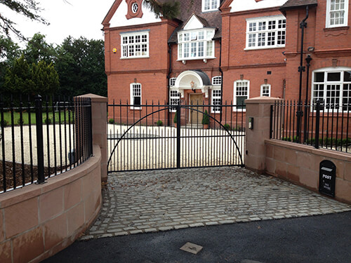 Grade II Listed Rectory – Handbridge - Entrance Gates (Residential Landscaping in Cheshire, South Manchester & Wirral)
