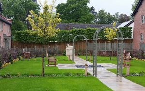 Home Farm Barns - Courtyard Area (Landscape Construction in Cheshire, South Manchester & Wirral)
