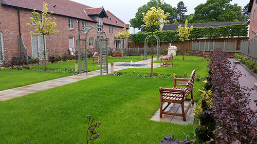 Home Farm Barns - Sawn Stone Paving