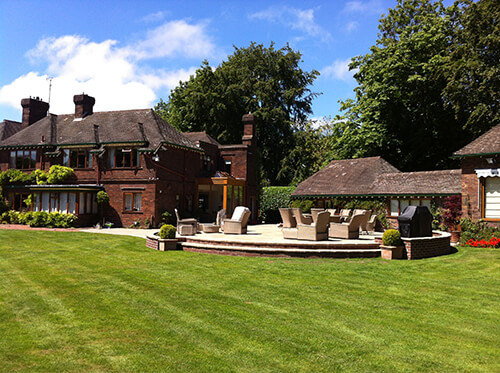 Large Garden - Dee Estuary - Lawn (Landscape Installation in Cheshire, South Manchester & Wirral)