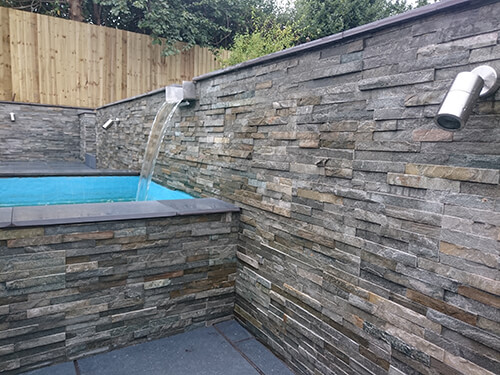 Modern Pools Cheshire - Split Level Water Feature (Landscaping in Cheshire, South Manchester & Wirral)