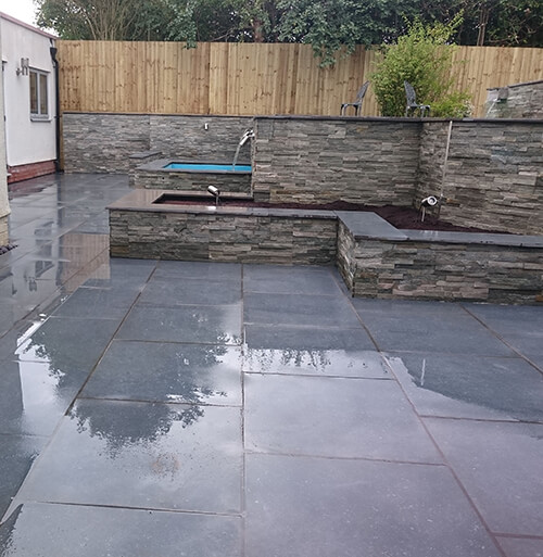 Modern Pools Cheshire - Stacked Slate Tile Cladding