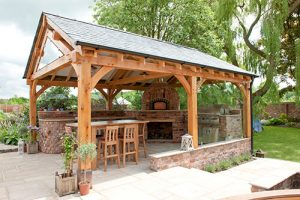 Outdoor Kitchen - Side View (Outdoor Kitchen Designer in Cheshire, South Manchester & Wirral)