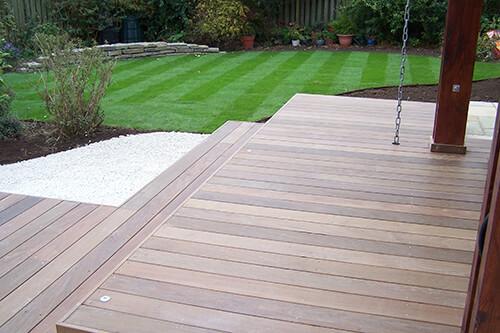 Zen Garden Cheshire - Floating Ipe Split Level Deck