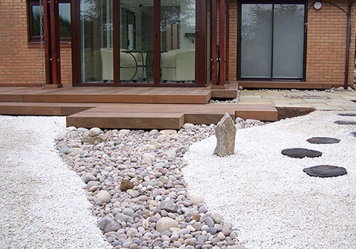 Zen Garden Cheshire - Sea Worn Pebbles to Create a Dry Stream Effect