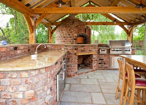 Outdoor Cooking Area In Lymm