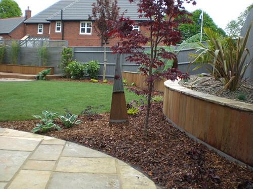 Contemporary Garden Chester - Limestone Paving