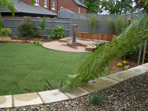 Contemporary Garden Chester - Side View (Garden Planner in Cheshire, South Manchester & Wirral)