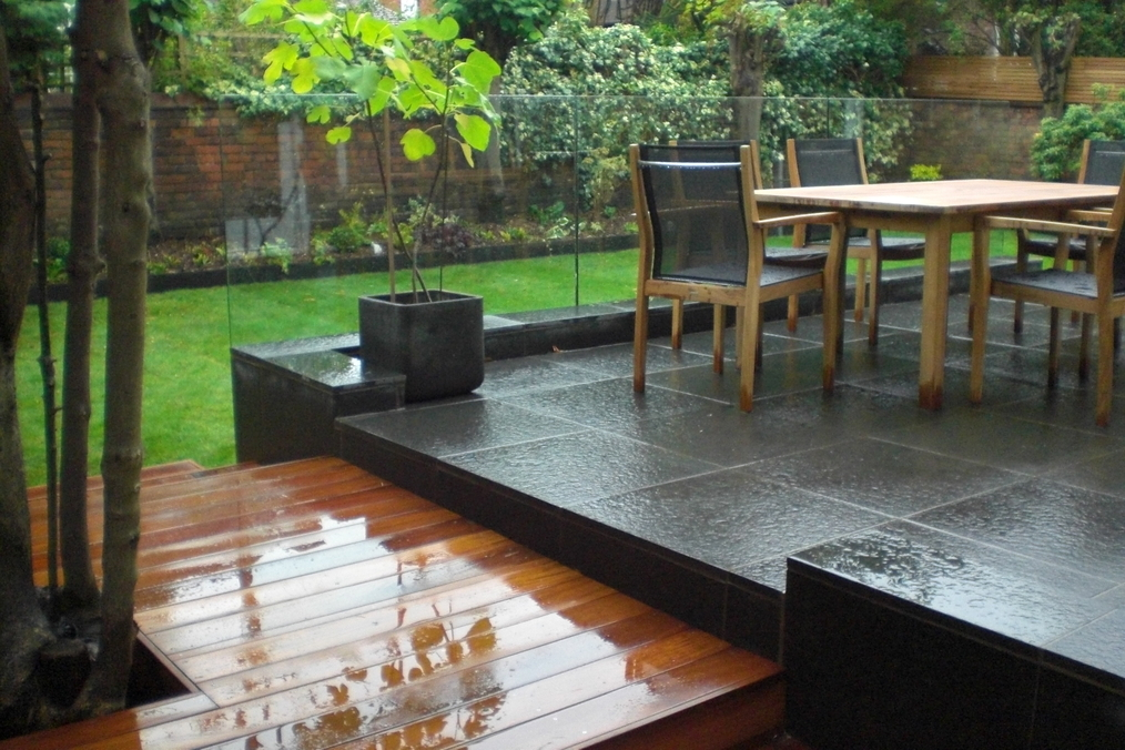 Small Split Level Garden - Landscape Contractors in South Manchester