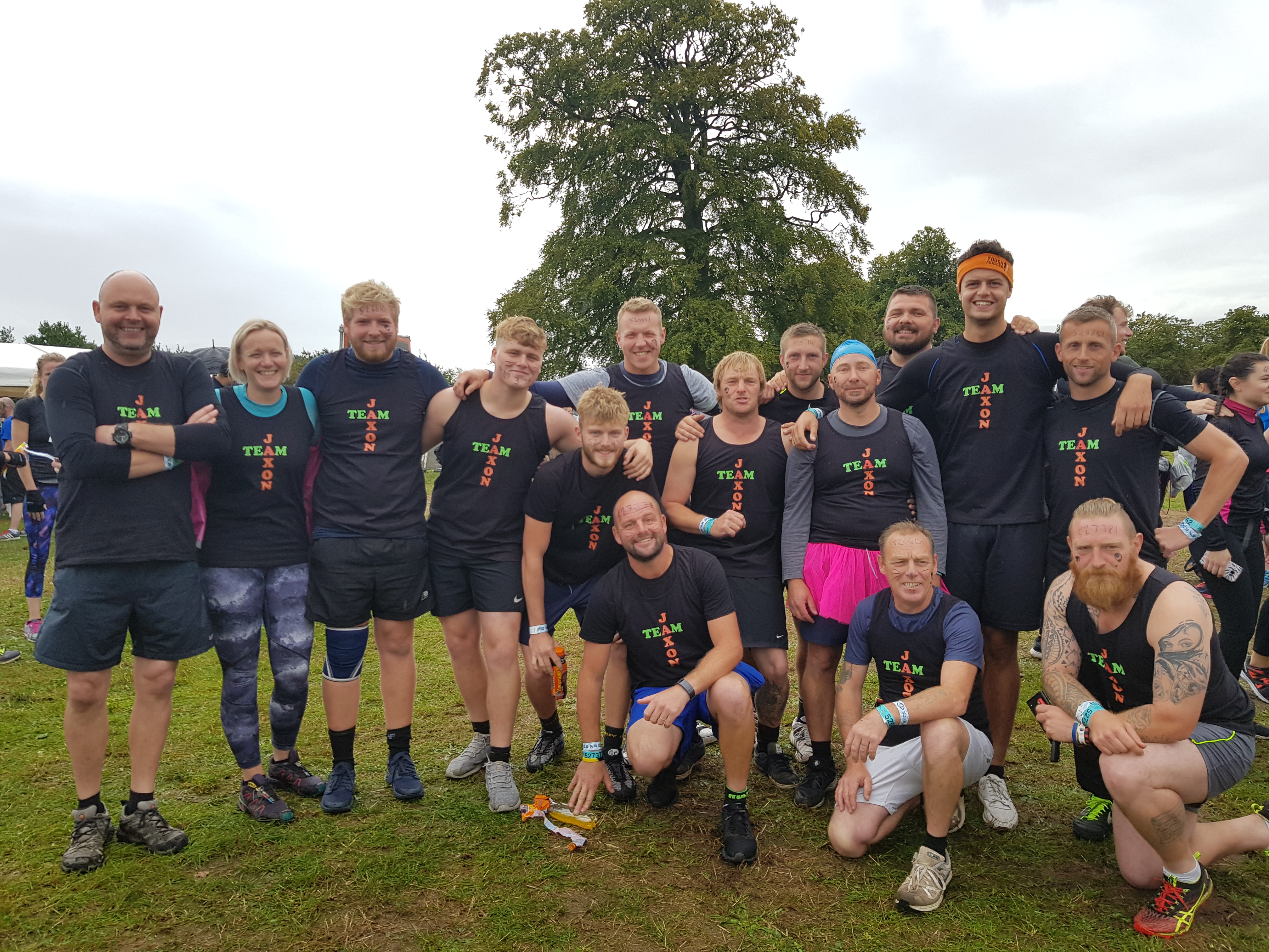 Our Team At Tough Mudder 2018 at Cholmondeley Castle