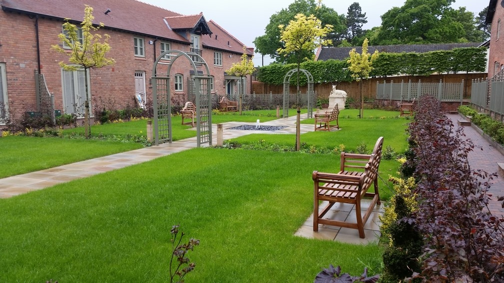 Home Farm Barns, Wirral commercial landscaping