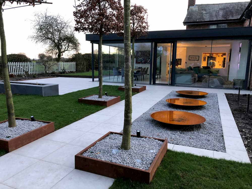 Modern outdoor living area in Cheshire